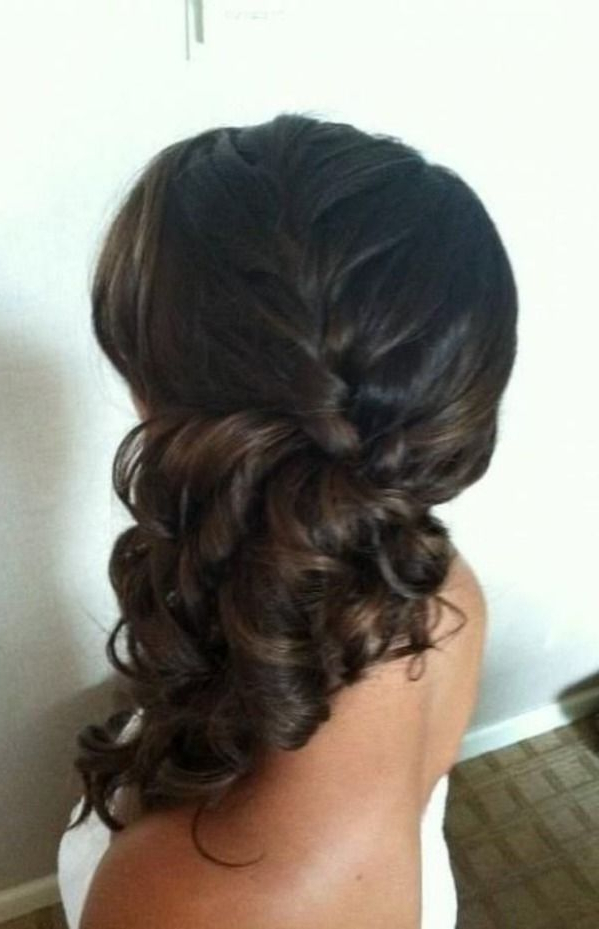 Wedding Hairstyles – Brides With Sass Hair Styles #2242685 – Weddbook Throughout Low Curly Side Ponytail Hairstyles For Prom (View 17 of 25)