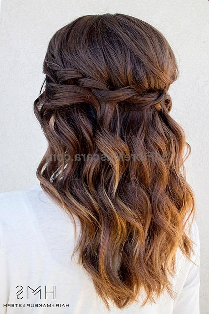 Wedding Hairstyles For Long Hair – Waterfall Braids Wavy Chic In Chic Waterfall Braid Prom Updos (View 5 of 25)