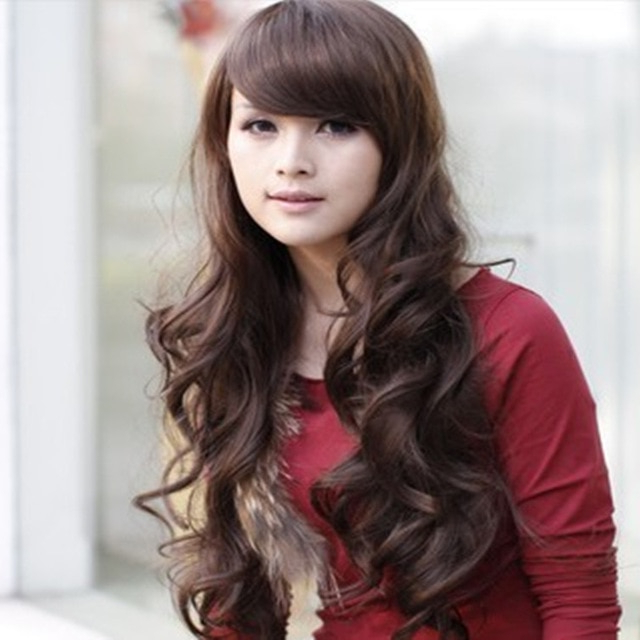 Wholesale Wavy Fluffy Wig Lady Pear Long Hair Repair Wig Korean In Long Wavy Hairstyles Korean (View 16 of 25)