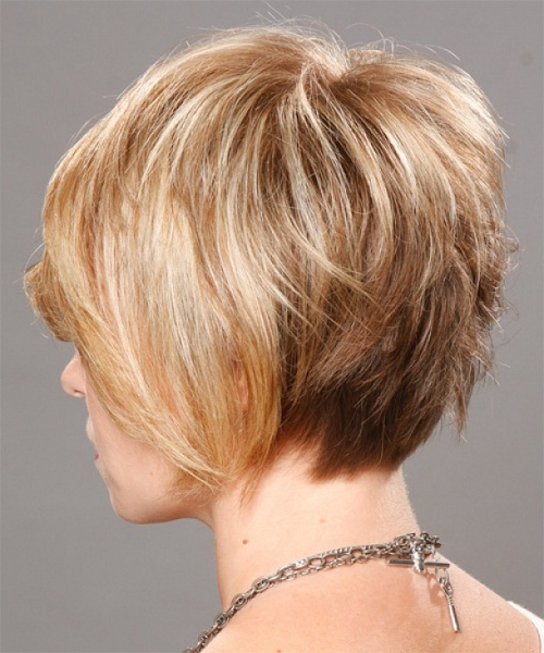 Women's Hairstyles: Layered Blonde Short Hairstyles Back View Pertaining To Long Hairstyles Back View (View 24 of 25)