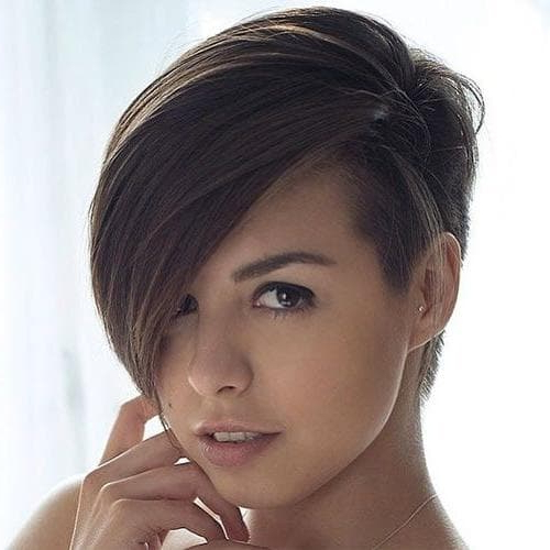 Womens Hairstyles With Short One Side Long Other | Womens Hairstyles Intended For One Side Long Haircuts (View 4 of 25)