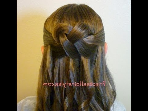 "Woven Knot"" Half Up Hair Style, Homecoming Hairstyles – Youtube Inside Long Hairstyles Knot (View 22 of 25)"