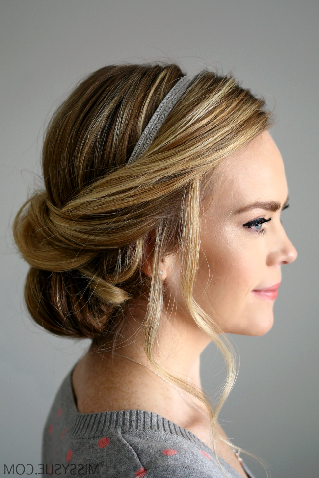 Wrapped Headband Updo With Regard To Long Hairstyles With Headbands (View 14 of 25)