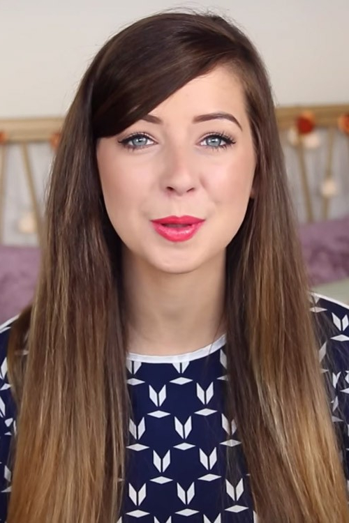 Zoella Straight Medium Brown Flat Ironed, Ombré Hairstyle | Steal Inside Zoella Long Hairstyles (View 6 of 25)