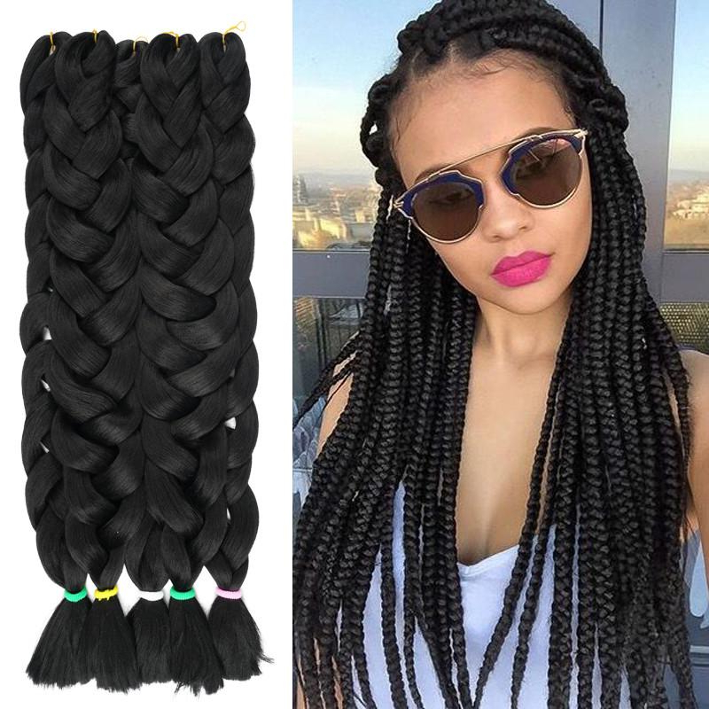 1 Piece Synthetic Braiding Hair Kanekalon Jumbo Braid 82 In Most Current Tight Green Boxer Yarn Braid Hairstyles (View 8 of 25)