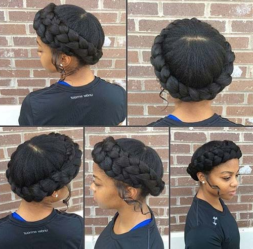 10 Amazing Black Braided Hairstyles Regarding Most Recent No Pin Halo Braided Hairstyles (View 20 of 25)