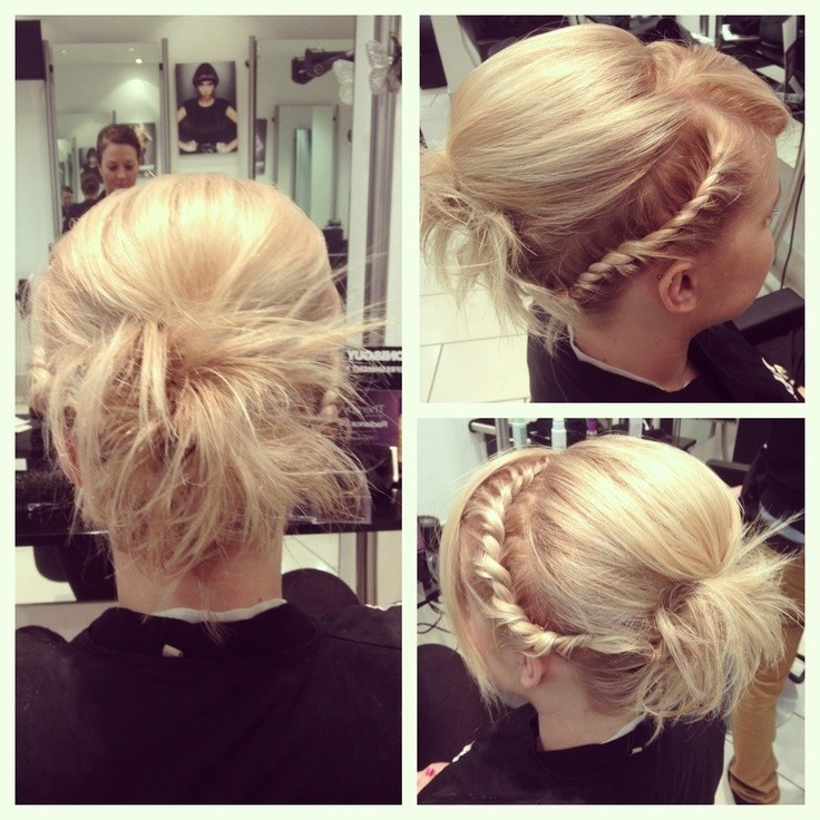 10 Braided Hairstyles For Short Hair – Popular Haircuts Regarding Current Messy Rope Braid Updo Hairstyles (View 18 of 25)