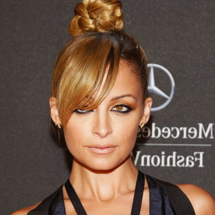 10 Cool (And Easy) Buns That Work For Short Hair Intended For Recent Half Up Top Knot Braid Hairstyles (View 14 of 25)