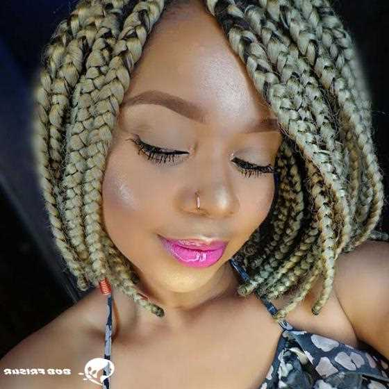10 Cool Blonde Box Braids Hairstyles To Try – Mody Hair Throughout 2018 Thick And Thin Braided Hairstyles (View 22 of 25)
