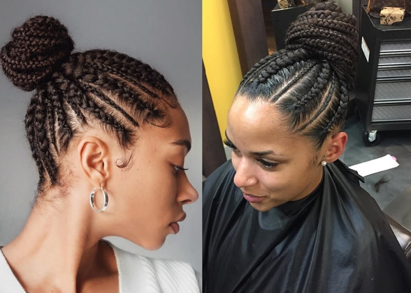 10 Cornrow Hairstyles For Girls To Look Fab – Child Insider With Regard To Most Recent Thick Cornrows Bun Hairstyles (View 21 of 25)