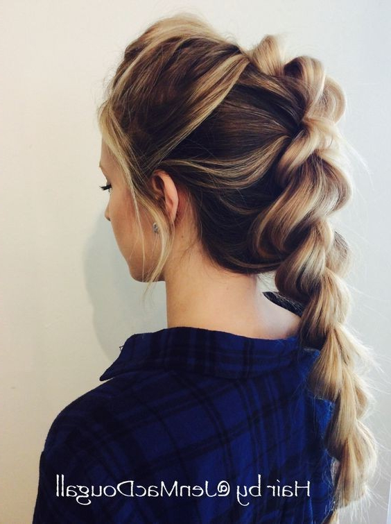 10 Cute Braided Hairstyle Ideas: Stylish Long Hairstyles 2019 For Best And Newest Brown Woven Updo Braid Hairstyles (View 11 of 25)