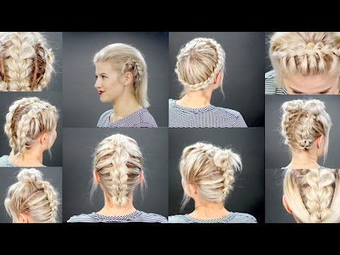 10 Faux Braided Short Hairstyles Tutorial | Milabu – Youtube For Latest Faux Halo Braided Hairstyles For Short Hair (View 11 of 25)