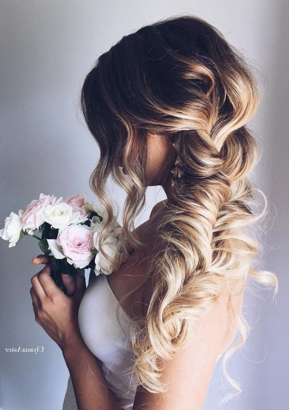 10 Pretty Braided Hairstyles For Wedding – Wedding Hair In Most Current Mermaid Fishtail Hairstyles With Hair Flowers (View 2 of 25)