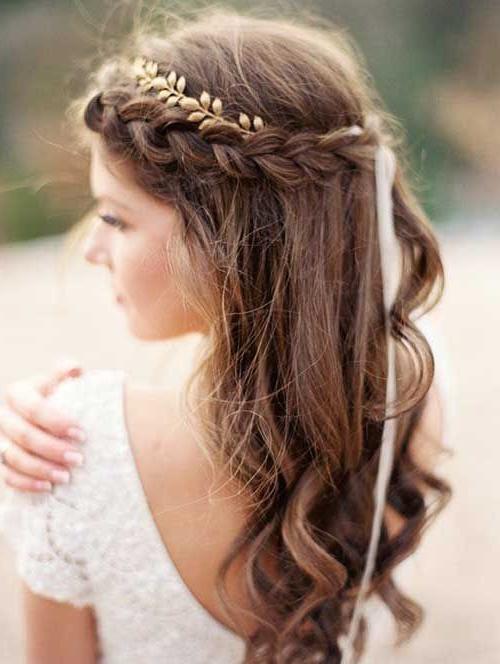 10 Pretty Braided Hairstyles For Wedding – Wedding Hair With 2018 Wedding Braided Hairstyles (View 21 of 25)