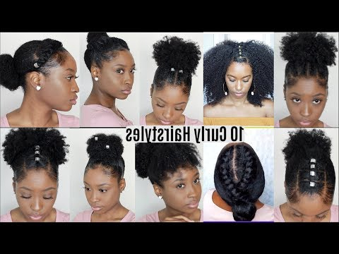 10 Quick Easy Hairstyles For Natural Curly Hair | Instagram In Most Current Naturally Curly Braided Hairstyles (View 13 of 25)