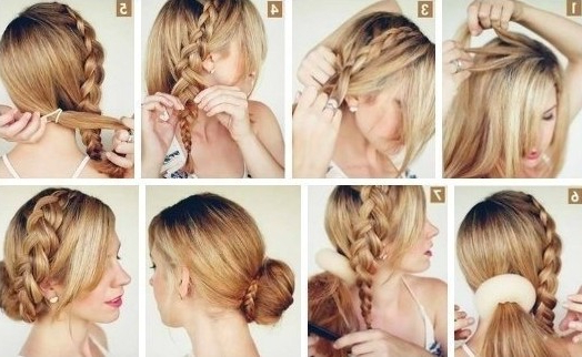 10 Side Bun Tutorials: Low, Messy And Braids Updos – Pretty Inside Most Up To Date Messy Rope Braid Updo Hairstyles (View 19 of 25)