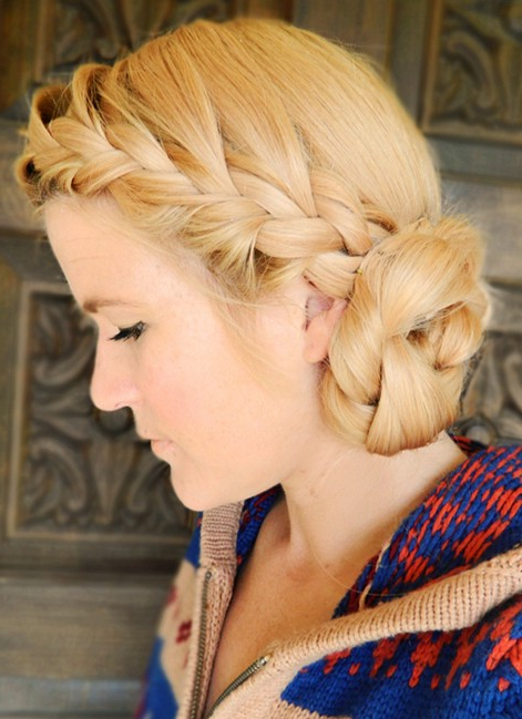 10 Side Bun Tutorials: Low, Messy And Braids Updos – Pretty Intended For 2018 Messy Rope Braid Updo Hairstyles (View 8 of 25)