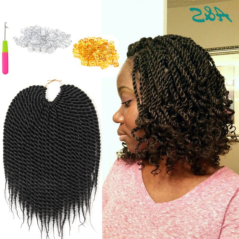 """10"""" Thin And Short Senegalese Twist Hair Micro Crochet Inside 2018 Crochet Mohawk Twists Micro Braid Hairstyles (View 18 of 25)"""