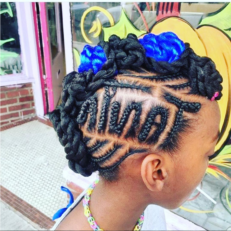 10 Trendy Braided Hairstyles For Black Girls » Black Kids Pertaining To Newest Whirlpool Braid Hairstyles (View 8 of 25)