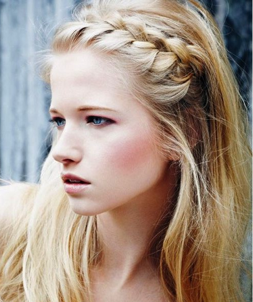 10 Trendy Braided Hairstyles – Popular Haircuts Throughout Current Braid Hairstyles With Braiding Bangs (View 8 of 25)