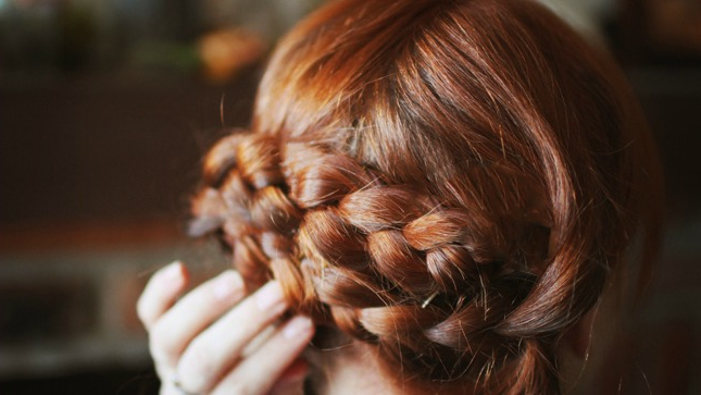 100 Braided Hairstyles You Need To Try | Stylecaster Intended For Recent Brown Woven Updo Braid Hairstyles (View 24 of 25)