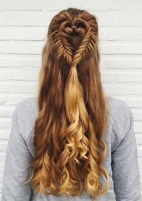 Featured Photo of Heart Shaped Fishtail Under Braid Hairstyles