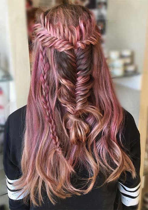 100 Ridiculously Awesome Braided Hairstyles To Inspire You For Most Current Mermaid Fishtail Hairstyles With Hair Flowers (View 21 of 25)
