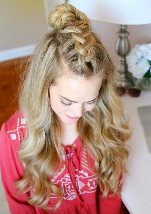 100 Ridiculously Awesome Braided Hairstyles To Inspire You Intended For 2018 Topknot Ponytail Braided Hairstyles (View 19 of 25)