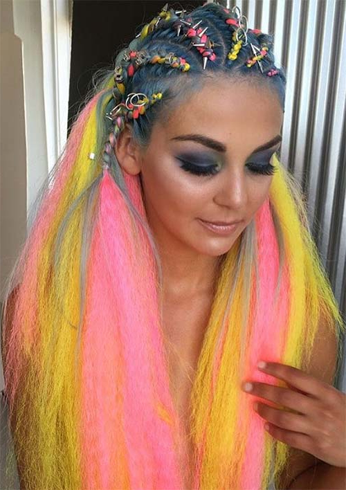100 Ridiculously Awesome Braided Hairstyles To Inspire You Intended For Latest Pink Rope Braided Hairstyles (View 19 of 25)