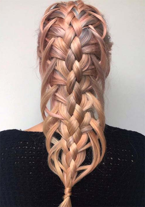 100 Ridiculously Awesome Braided Hairstyles To Inspire You Pertaining To Recent Loose 4 Strand Rope Braid Hairstyles (View 13 of 25)