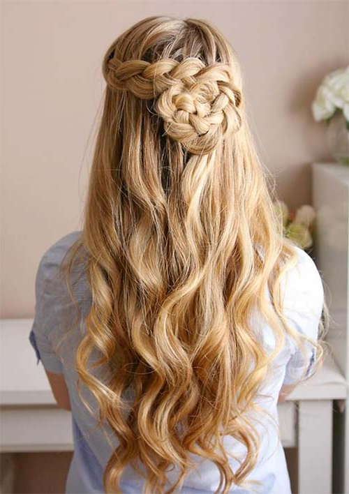 100 Ridiculously Awesome Braided Hairstyles To Inspire You With Recent Mermaid Fishtail Hairstyles With Hair Flowers (View 10 of 25)