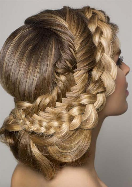 100 Ridiculously Awesome Braided Hairstyles To Inspire You With Regard To Latest Brown Woven Updo Braid Hairstyles (View 13 of 25)