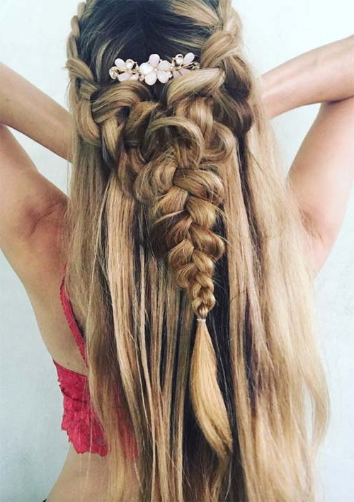 100 Ridiculously Awesome Braided Hairstyles To Inspire You With Regard To Most Current Double Half Up Mermaid Braid Hairstyles (View 25 of 25)