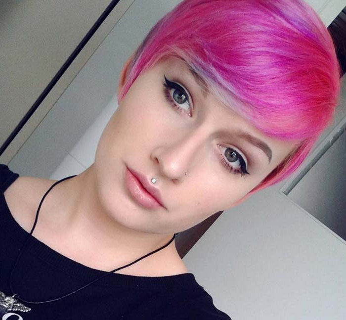 100 Short Hairstyles For Women: Pixie, Bob, Undercut Hair With Best And Newest Purple Pixies Bob Braid Hairstyles (View 16 of 25)