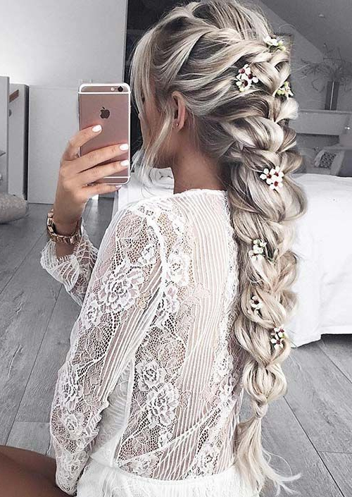 100 Trendy Long Hairstyles For Women To Try In 2017 For Recent Mermaid Fishtail Hairstyles With Hair Flowers (View 22 of 25)