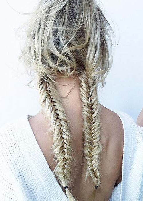 100 Trendy Long Hairstyles For Women To Try In 2017 Intended For Newest Thick Two Side Fishtails Braid Hairstyles (View 24 of 25)