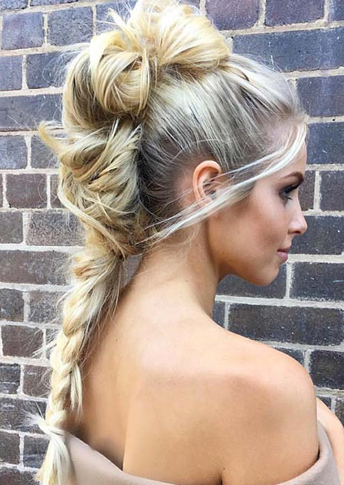100 Trendy Long Hairstyles For Women To Try In 2017 With Regard To Most Recent Braided Mermaid Mohawk Hairstyles (View 13 of 25)
