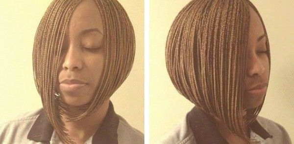 101 African Hair Braiding Pictures – Photo Gallery | Black With 2018 Short Stacked Bob Micro Braids (View 3 of 25)