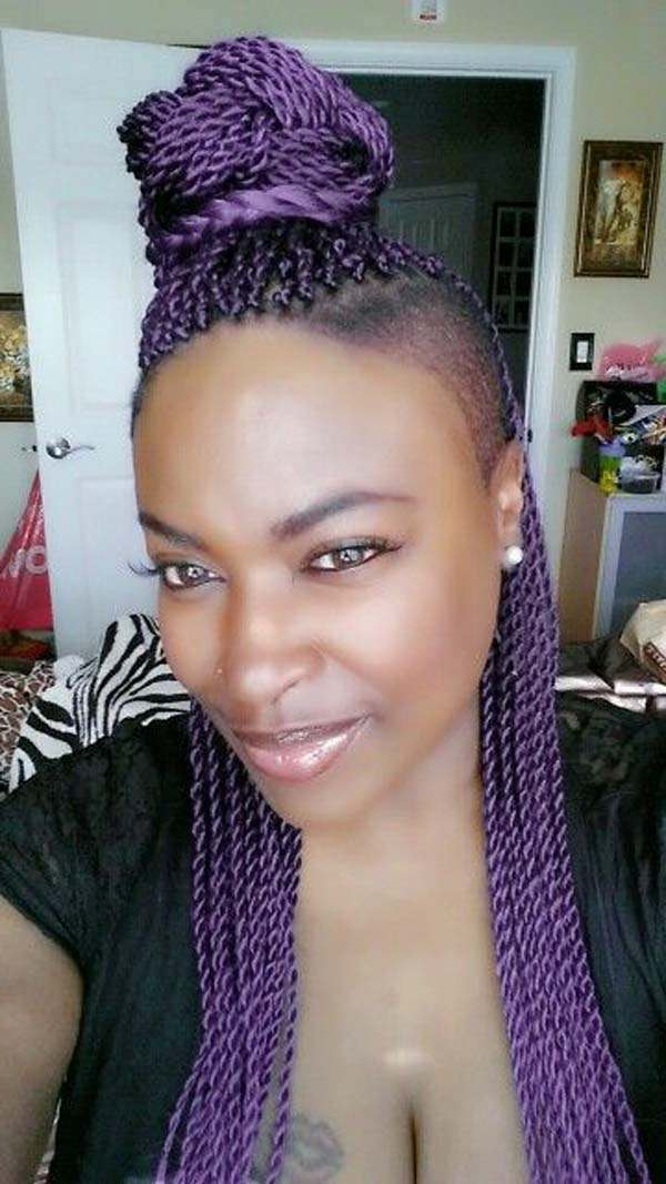 101 Beautiful And Stylish Senegalese Twists Hairstyles Intended For Most Recent Crochet Mohawk Twists Micro Braid Hairstyles (View 23 of 25)