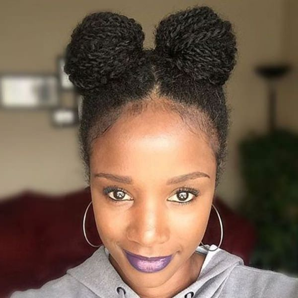 101 Micro Braids For You – Style Easily Inside Recent Natural Protective Bun Micro Braid Hairstyles (View 13 of 25)