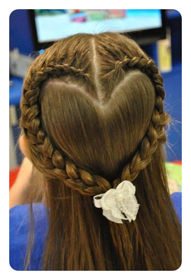 101 Simple And Cute Hairstyles For The Girls – Style Easily For Newest Heart Shaped Fishtail Under Braid Hairstyles (View 7 of 25)