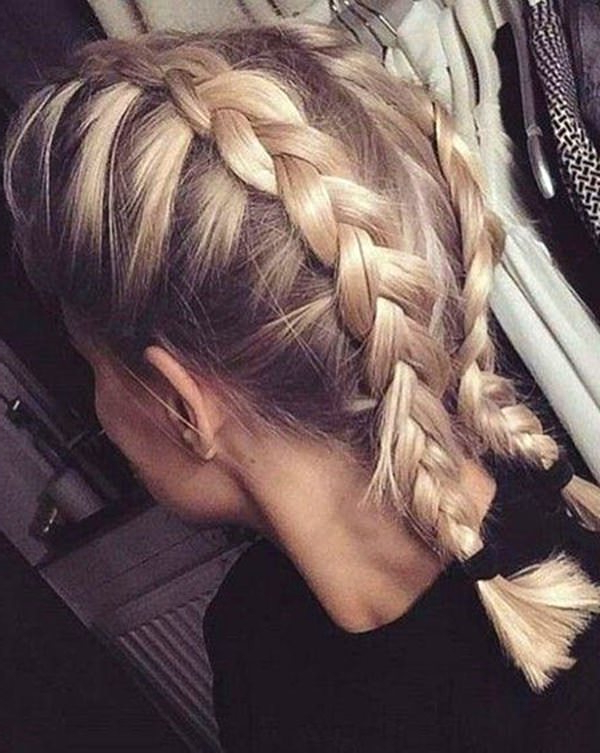 101 Stunning Dutch Braids Hairstyles You Need To Try Regarding Most Current Thick Two Side Fishtails Braid Hairstyles (View 13 of 25)