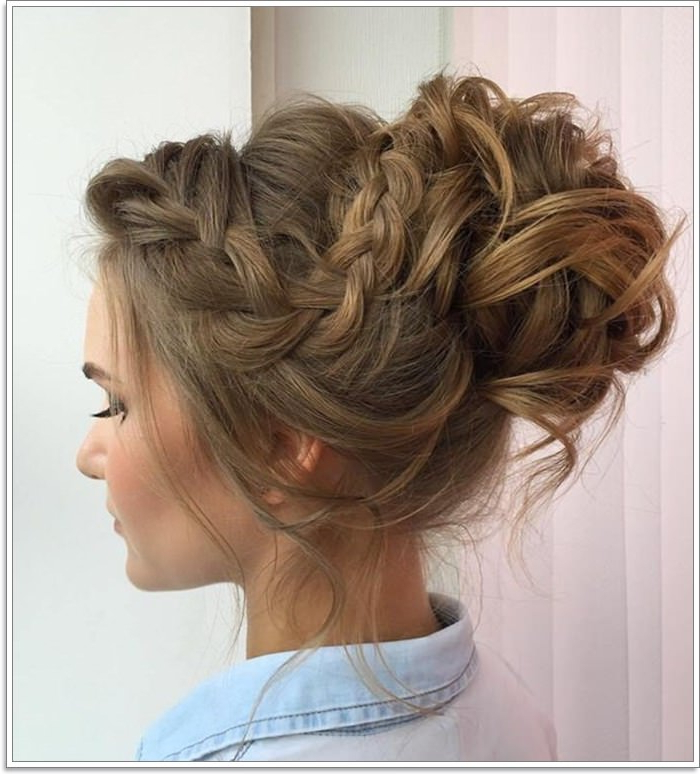 102 Best Diy Hairstyles For Long Hair For You With Current Brown Woven Updo Braid Hairstyles (View 17 of 25)