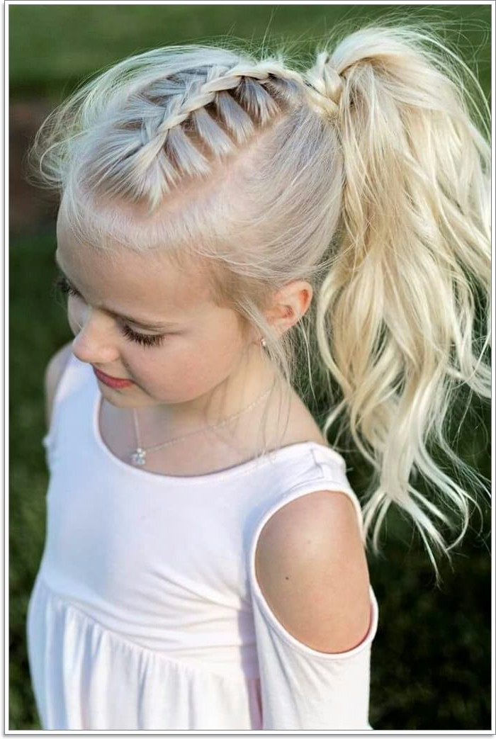 103 Adorable Braid Hairstyles For Kids Regarding Most Popular Forward Braided Hairstyles With Hair Wrap (View 16 of 25)