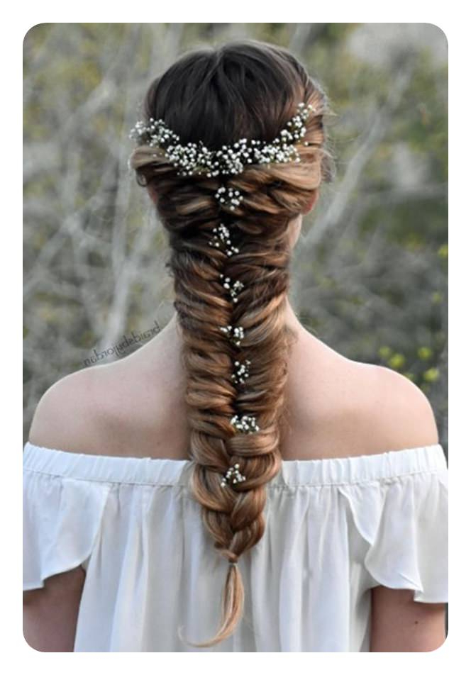 104 Easy Fishtail Braid Ideas And Their Stepstep Inside Newest Mermaid Fishtail Hairstyles With Hair Flowers (View 5 of 25)
