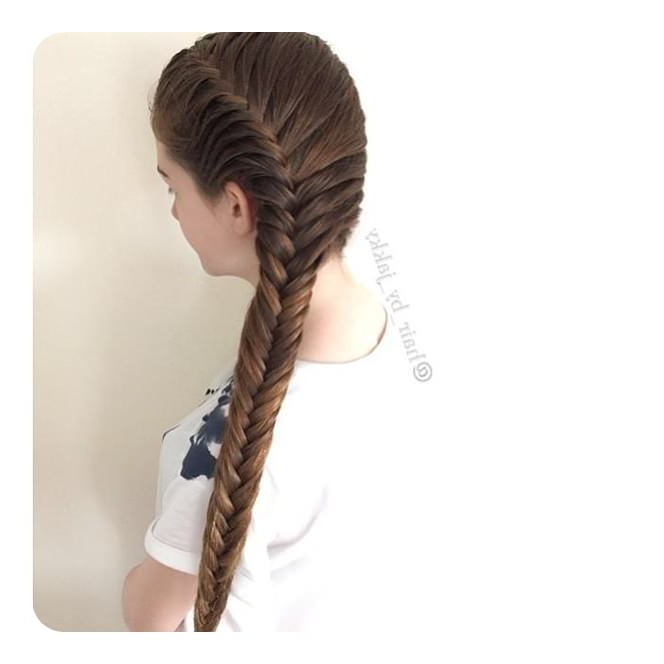 104 Fishtail Braids Hairstyles That Turn Heads For Most Up To Date Thick Two Side Fishtails Braid Hairstyles (View 3 of 25)