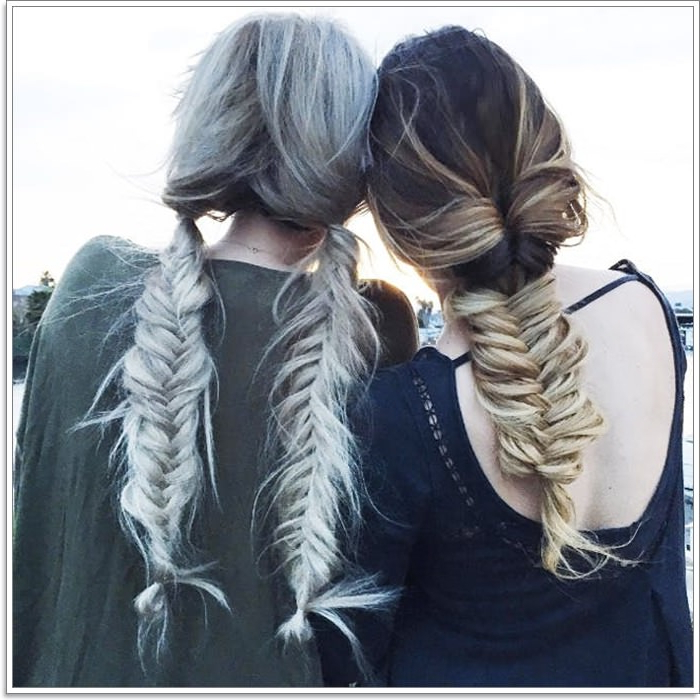 105 Mermaid Hairstyles That'll Make You Want To Go To The In Current Mermaid Braid Hairstyles With A Fishtail (View 25 of 25)