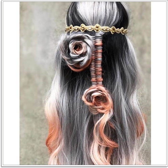 105 Mermaid Hairstyles That'll Make You Want To Go To The Throughout Current Mermaid Fishtail Hairstyles With Hair Flowers (View 15 of 25)