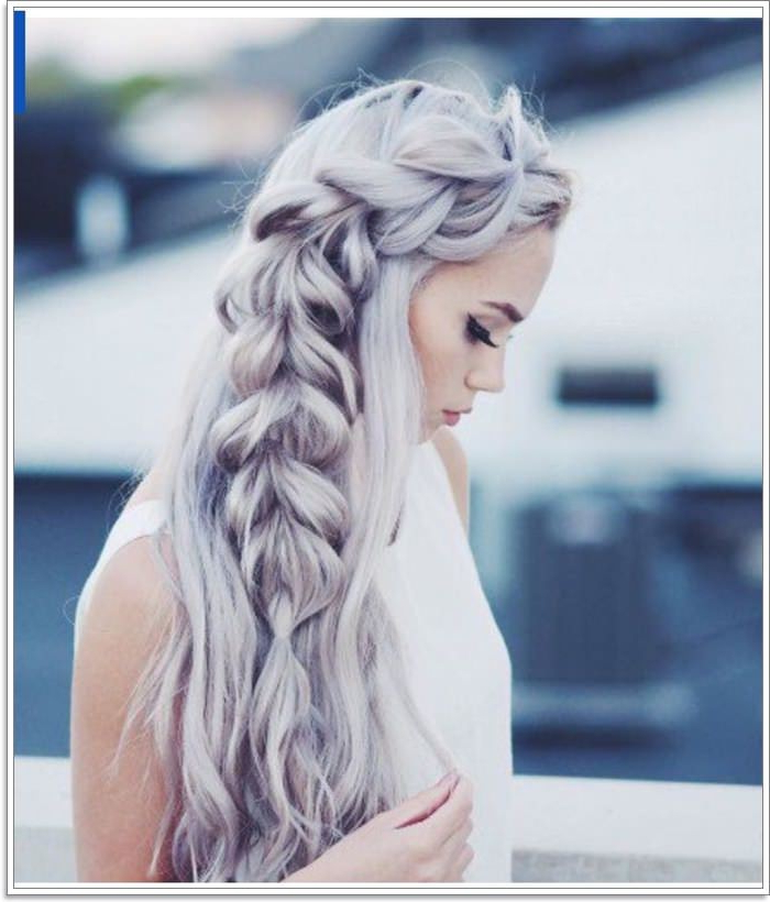 105 Mermaid Hairstyles That'll Make You Want To Go To The Within Most Popular Messy Curly Mermaid Braid Hairstyles (View 6 of 25)