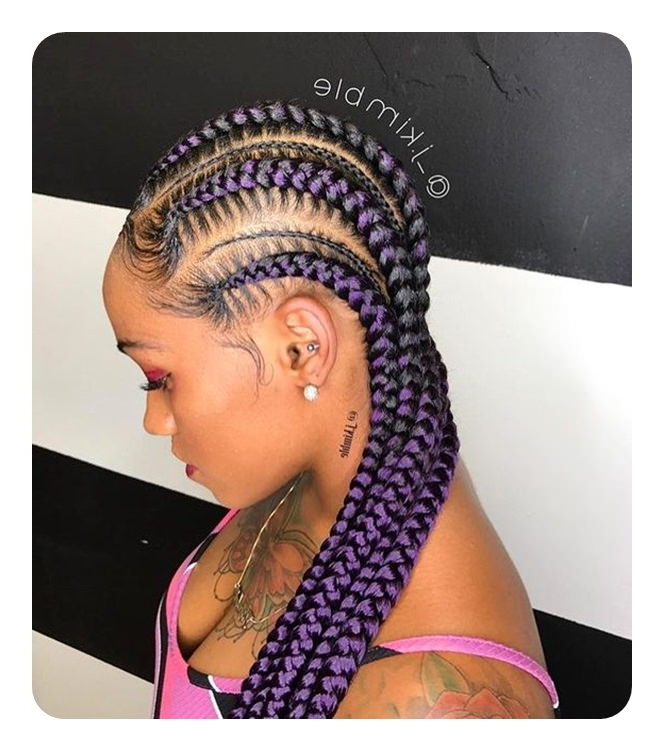 105 Sexy Lemonade Braids To Try – Style Easily Throughout Most Current Skinny Braid Hairstyles With Purple Ends (View 16 of 25)